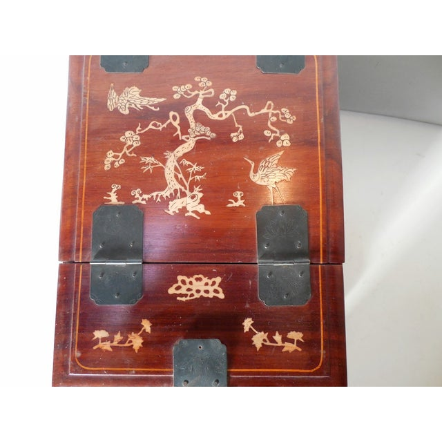 Chinese Rosewood Dressing Box With Bone Inlay - Image 4 of 10
