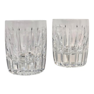 Vintage Lenox Starfire Crystal Double Old Fashioned Barware - a Pair For Sale