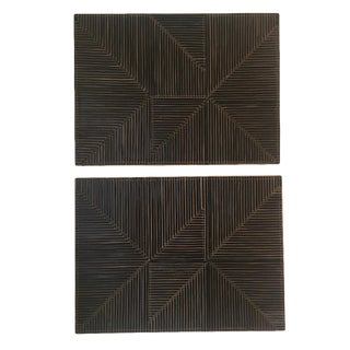 Michelle Peterson-Albandoz Mixed Media Contemporary Leather Panels - a Pair For Sale