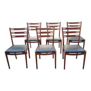 Mid-Century Modern Danish Teak Dining Chairs - Set of 6