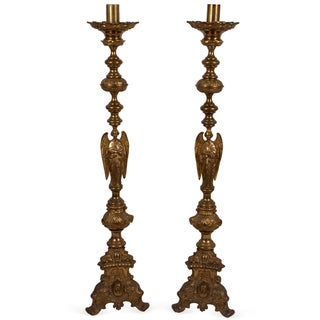 20th Century Mexican Altar Torcheres - a Pair For Sale