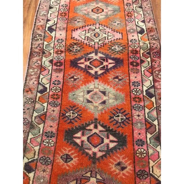 Textile Antique Turkish Long Herki Runner Rug For Sale - Image 7 of 8