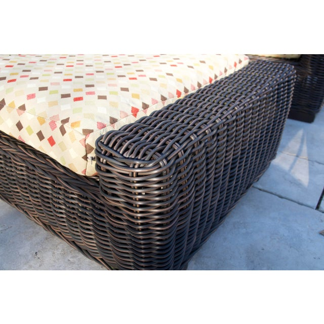 2010s Summer Classics- Rustic Woven Chaise Lounge and Cushion For Sale - Image 5 of 13