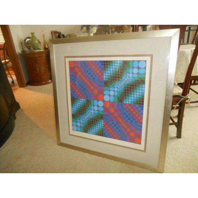 Victor Vasarely Op Art Silkscreen - Image 2 of 8