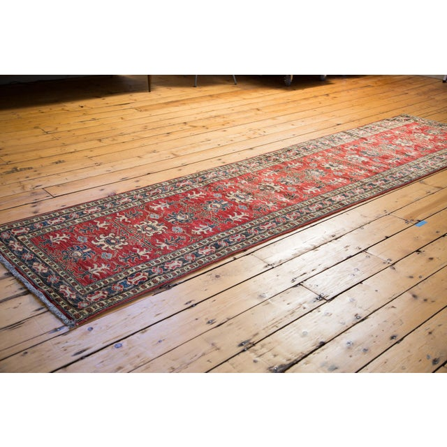 "Traditional Red Pak Caucasian Rug Runner - 2'8"" X 11'1"" For Sale - Image 3 of 4"
