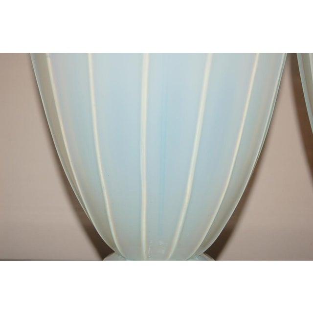 Blown Glass Marbro Murano Opaline Glass Table Lamps White For Sale - Image 7 of 10
