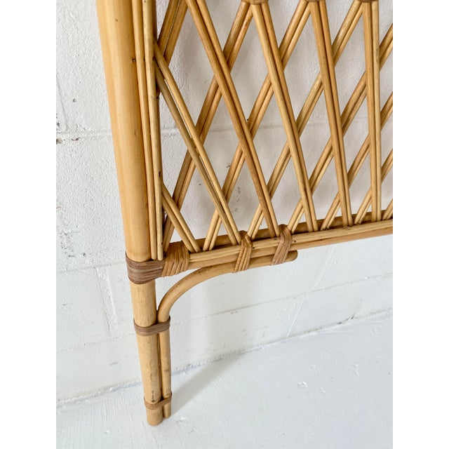 Vintage Rattan Headboards- a Pair For Sale - Image 10 of 13