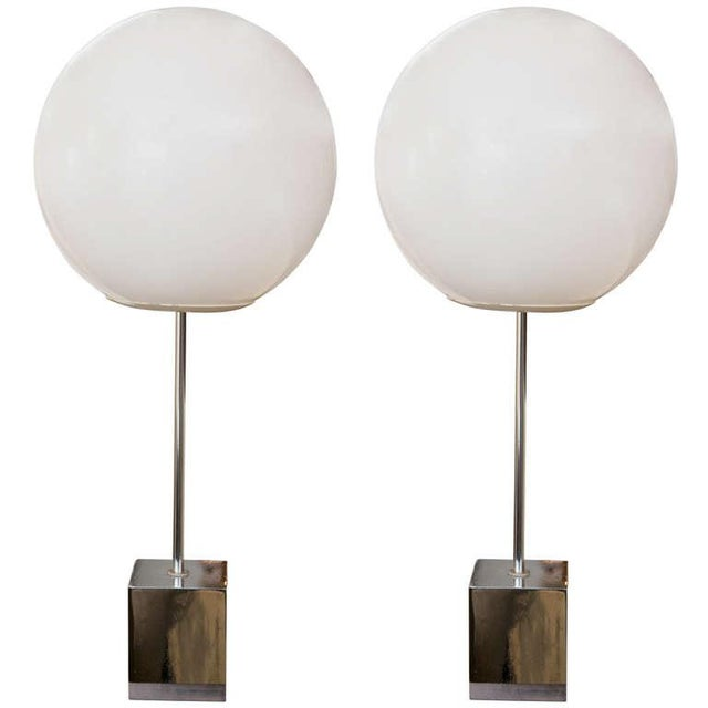 Robert Sonneman 1960's Globe Lamp - A Pair - Image 1 of 6