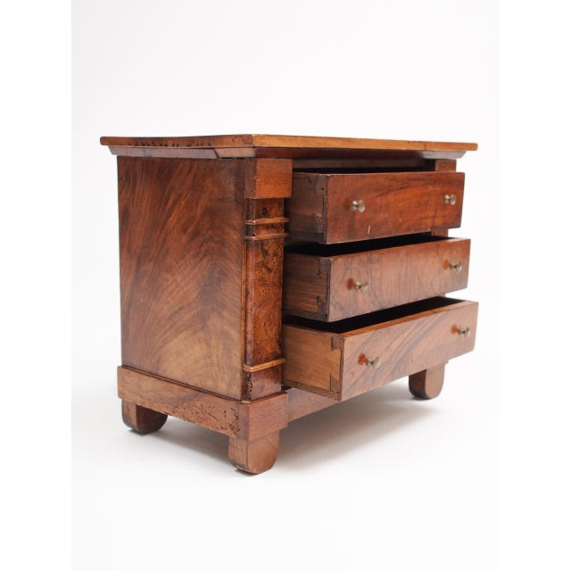 Miniature French Provincial Empire Commode For Sale - Image 4 of 7