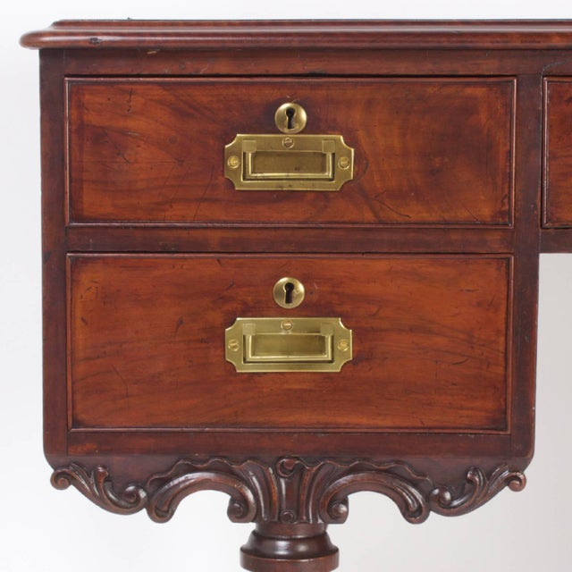 Rare Antique Irish Mahogany Desk For Sale In West Palm - Image 6 of 10