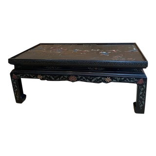 1960s Vintage Chinoiserie Detailed Coffee Table For Sale