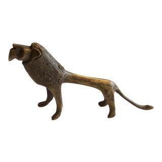 Vintage African Bronze Lion For Sale
