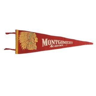 Vintage Montgomery Alabama Felt Flag Pennant For Sale