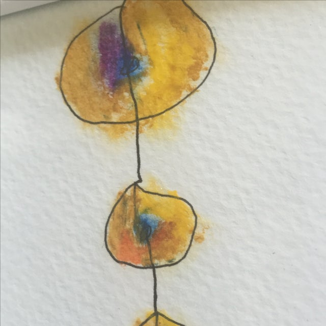 "Original ""Totem"" Oil Pastel - Image 3 of 6"