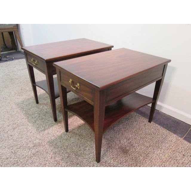 Henkel Harris Wood Side Tables - A Pair - Image 3 of 11