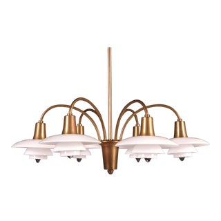 Bombardment Chandelier by Poul Henningsen for Louis Poulsen, 1930s For Sale