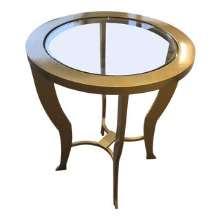 Gold Painted Small Side Table For Sale