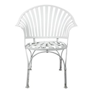 Francois Carre Vintage Fan Back Patio Armchair