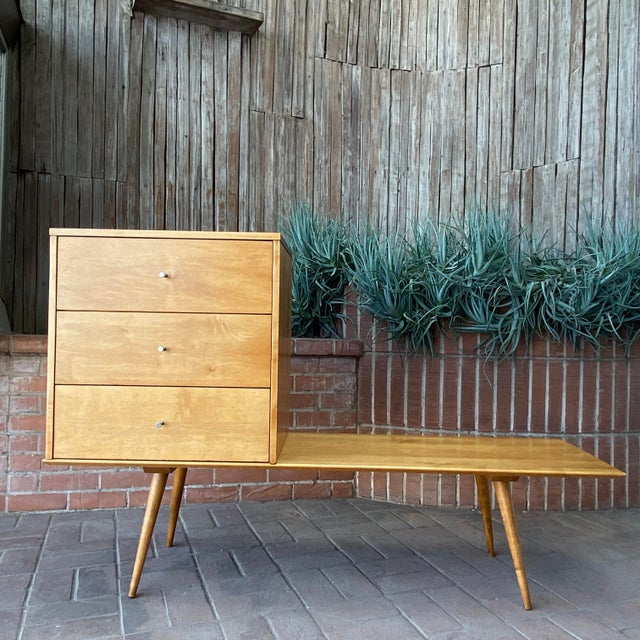 Mid-Century Modern Mid-Century Modern Paul McCobb Planner Group by Winchendon Modular Cabinet and Bench For Sale - Image 3 of 13