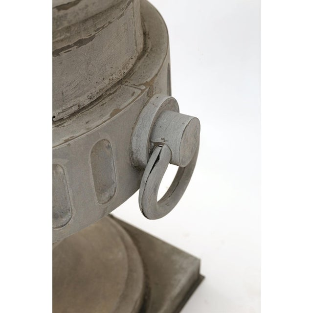 French Monumental Urn-Shape Zinc Finial For Sale - Image 3 of 9