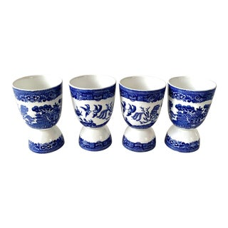 Vintage Blue Willow Egg Cups For Sale