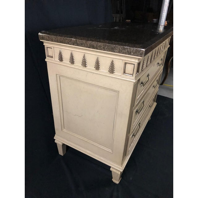 Louis XVI Style Chests or Night Stands -A Pair For Sale - Image 9 of 13
