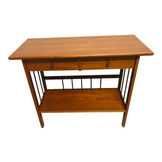 1960s Danish Teak Console Table With Drawers For Sale