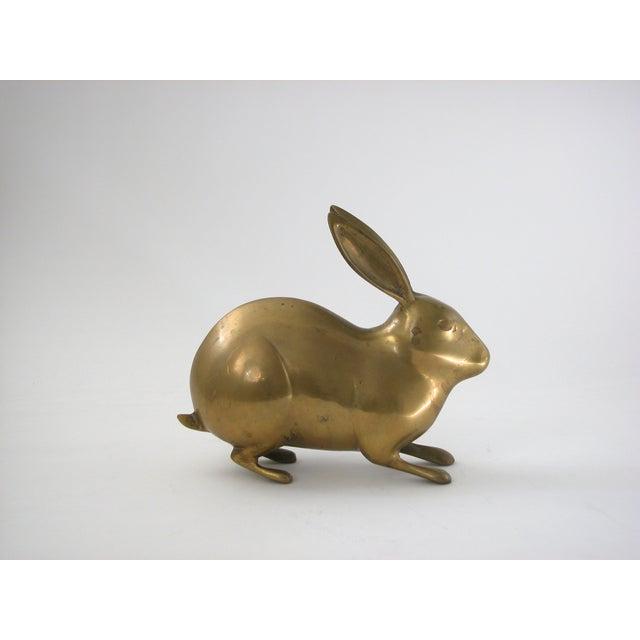 Large Vintage Brass Rabbit - Image 2 of 7
