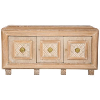 French Art Deco Cerused Oak Sideboard or Buffet For Sale