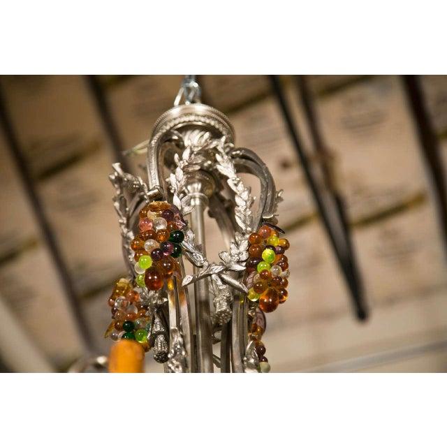 Art Nouveau French Art Nouveau Style 8-Light Chandelier For Sale - Image 3 of 11