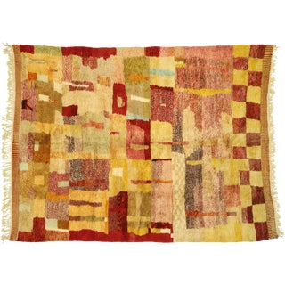 Moroccan Contemporary Rug Inspired by Paul Klee - 08'11 X 11'10 For Sale