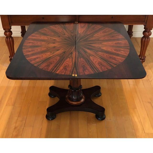 Antique Rosewood & Coromandel Regency Console or Game Table For Sale -  Image 4 ... - Antique Rosewood & Coromandel Regency Console Or Game Table Chairish