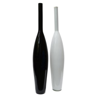 Oversized Murano Glass Bottles - A Pair