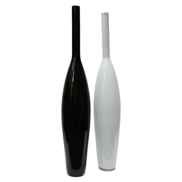 Oversized Murano Glass Bottles - A Pair - Image 1 of 4