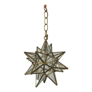 1960s Vintage Moroccan Star Lantern For Sale