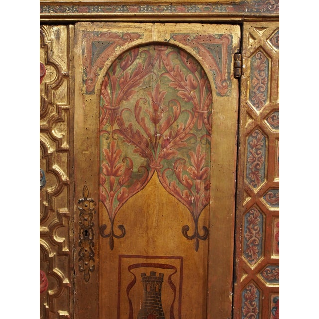 Mid 19th Century Italian Polychrome Two Door Cabinet For Sale - Image 5 of 11