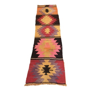 "1950s Turkish Kilim Runner Rug, 2'.1"" * 7'.6"" Ft For Sale"