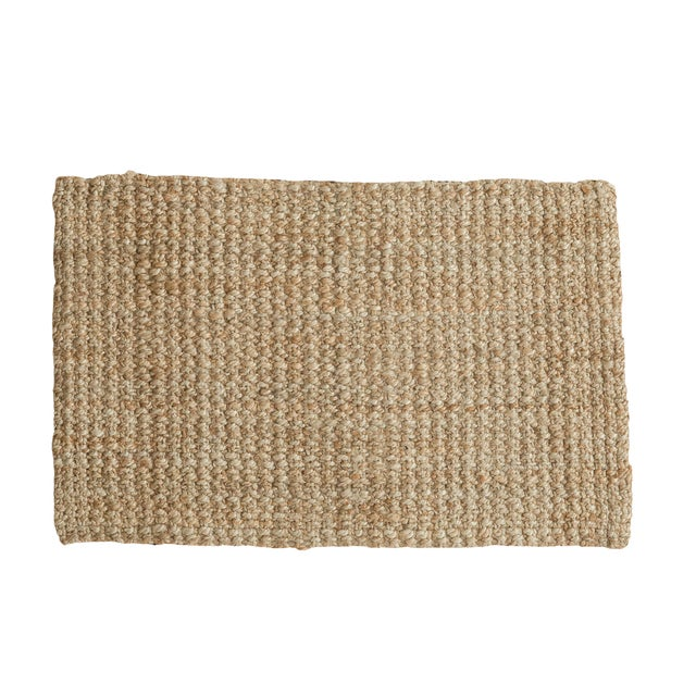 "Hand Braided Gold Entrance Mat - 2'1"" X 3'2"" - Image 1 of 2"
