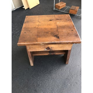 Rustic Solid Wood End Table Preview