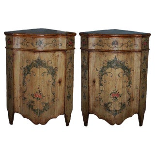 19th Century Traditional Corner Cabinets - a Pair For Sale