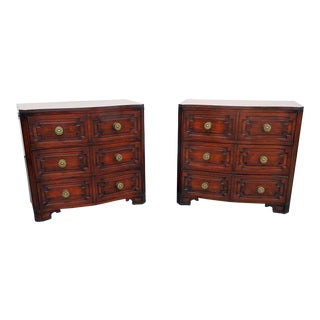 20th Century Traditional Grosfeld House Commodes - a Pair For Sale