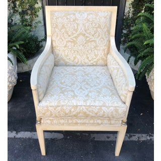 Charles Pollock Directoire Style Bergere Chair W Fortuny Fabric Preview