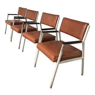 Shaw Walker Mid Century Aluminum Chairs - Set of 4 For Sale