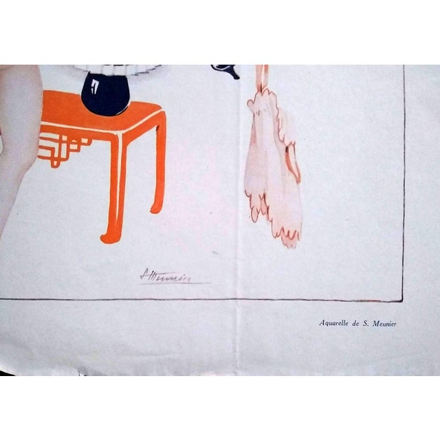 """Suzanne Meunier 1926 """"Coquetteries Matinales"""" Le Sourire Print For Sale - Image 4 of 6"""
