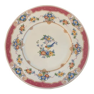 Antique Minton's Pink Bird Dinner Plates - Set of 10 For Sale