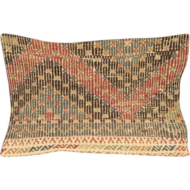 Turkish Nalbandian - 1960s Turkish Cicim Lumbar Pillow - 16' X 24' For Sale - Image 3 of 3