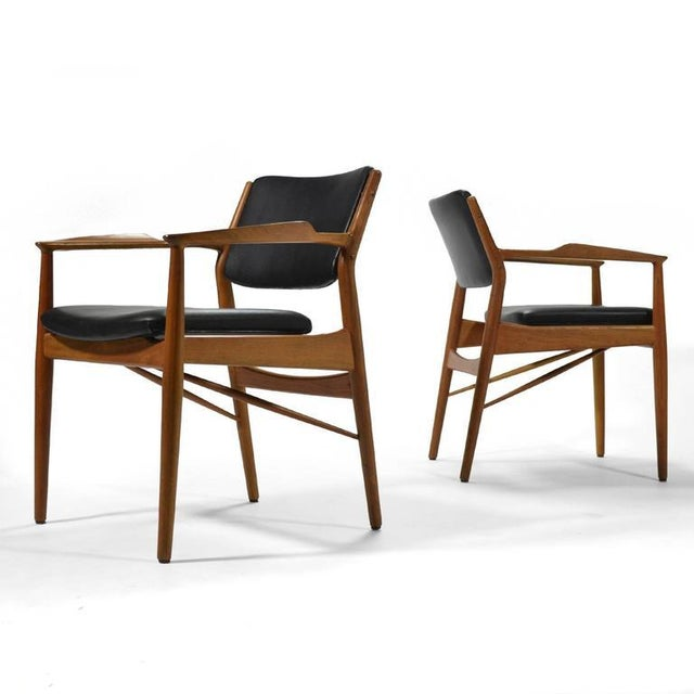 Danish Modern Arne Vodder Armchairs by Sibast For Sale - Image 3 of 8