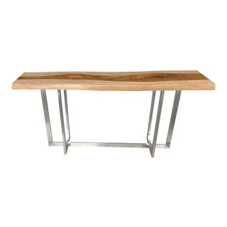 Flybridge Live Edge Console Table 3 For Sale