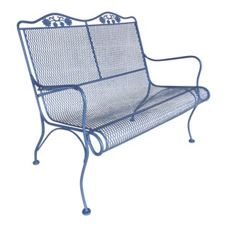Vintage Woodard Briarwood High Back Settee Love Seat Model #1A052905