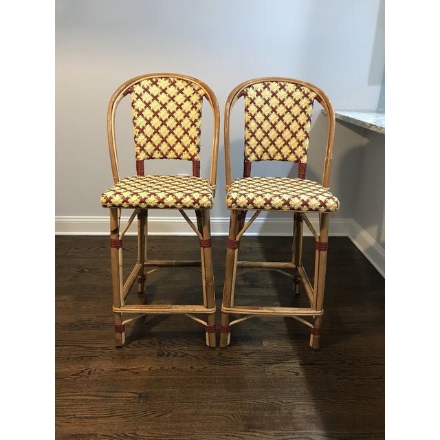 Maison Drucker French Bistro Bar Stools - A Pair For Sale - Image 5 of 8